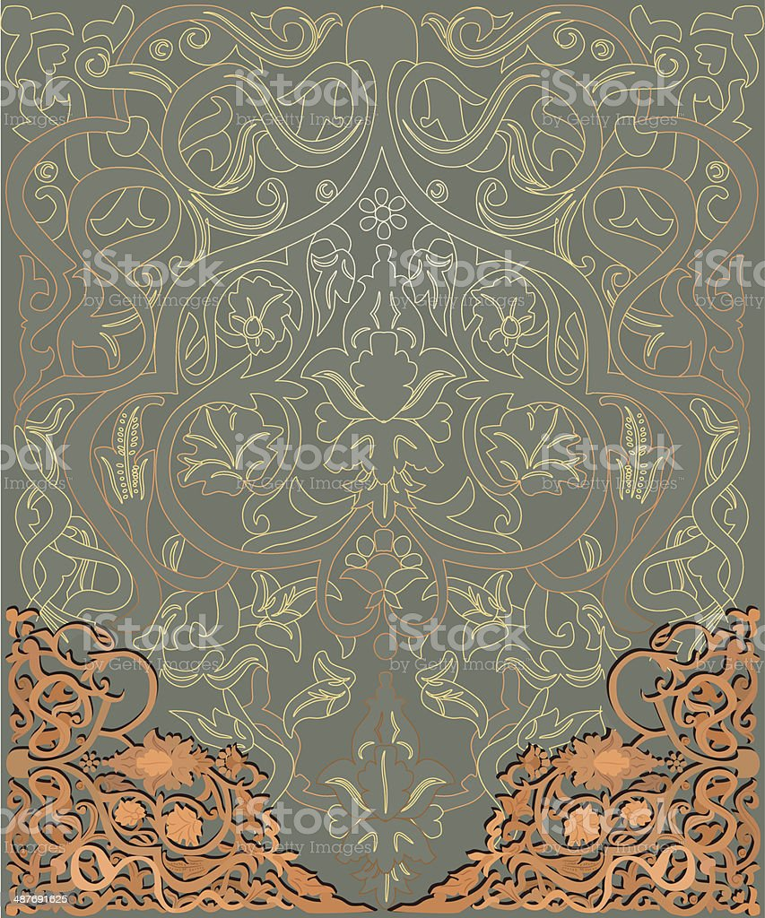 arabic vector background vector art illustration