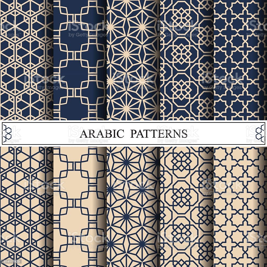 arabic vector pattern,pattern fills, web page background,surface vector art illustration