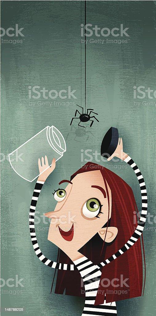 Arachnophilia vector art illustration