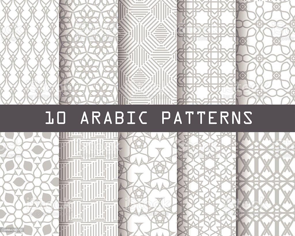 10 arbic patterns6 feb re vector art illustration