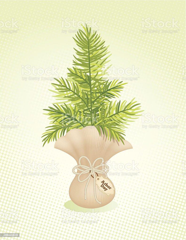 Arbor day Tree Seedling Icon royalty-free stock vector art