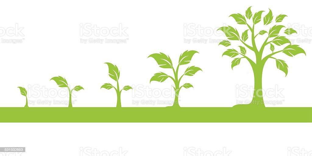 arbres vector art illustration