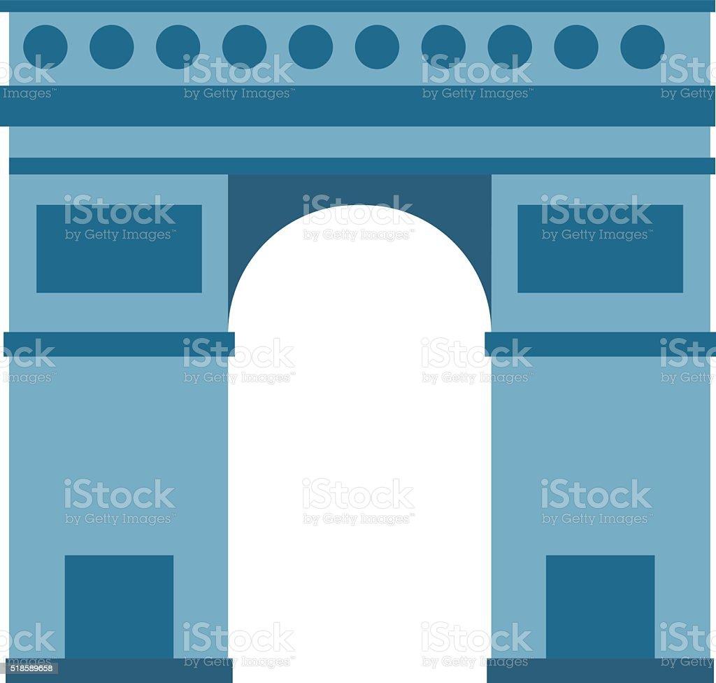 Arc de Triomphe Paris France architecture europe travel monument vector vector art illustration