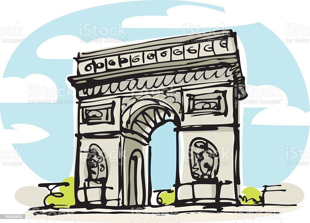 Arc de Triomphe, Paris royalty-free stock vector art