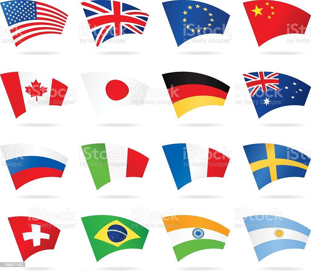 Arc Flags - Most Popular vector art illustration