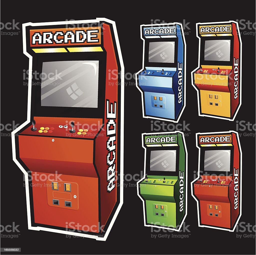 Arcade Cabinet vector art illustration