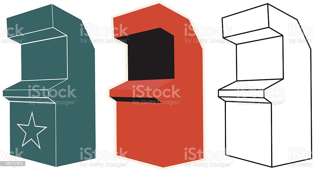 Arcade Cabinet - Vector Illustration royalty-free stock vector art