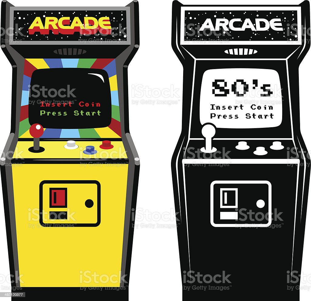 Arcade Game Cabinet vector art illustration