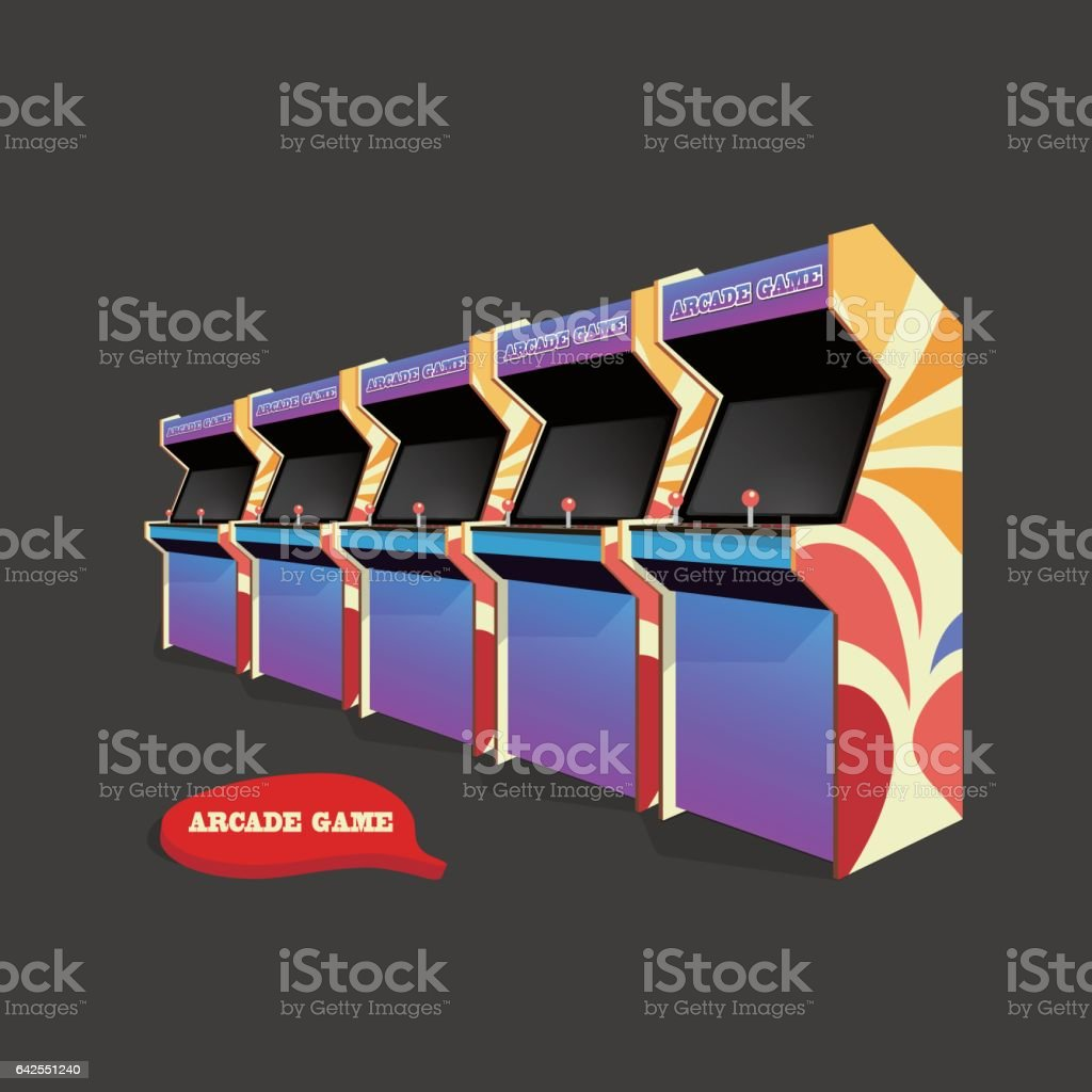 Arcade Games vector art illustration