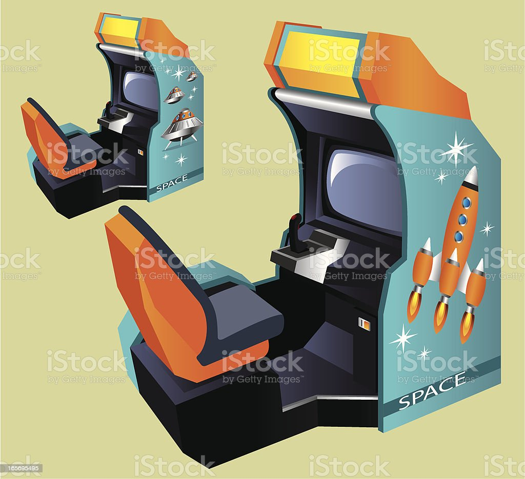 Arcade Machine vector art illustration