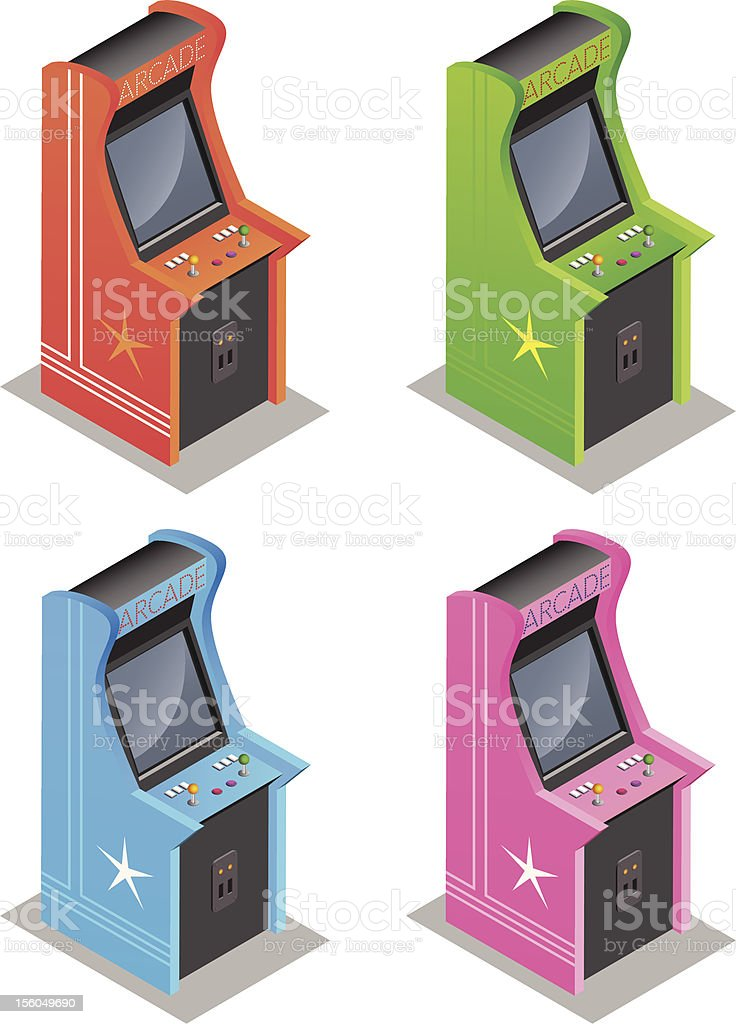 Arcade machines royalty-free stock vector art