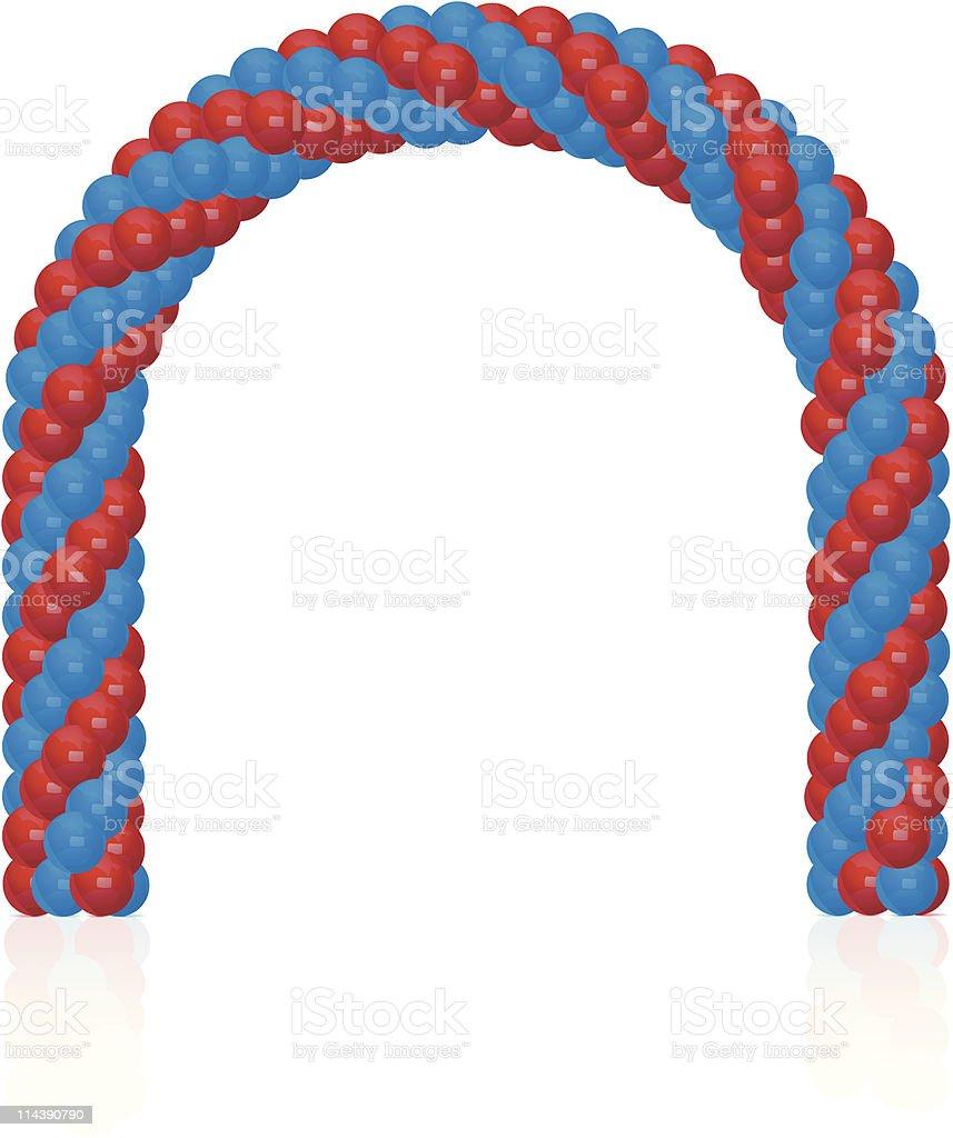 Arch of balloons vector art illustration