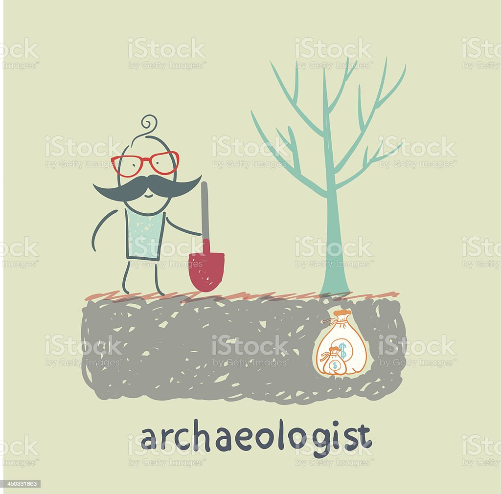 archaeologist royalty-free stock vector art