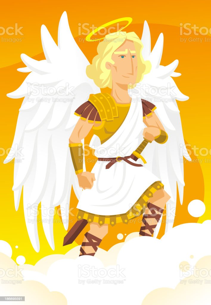 Archangel Gabriel Angel royalty-free stock vector art
