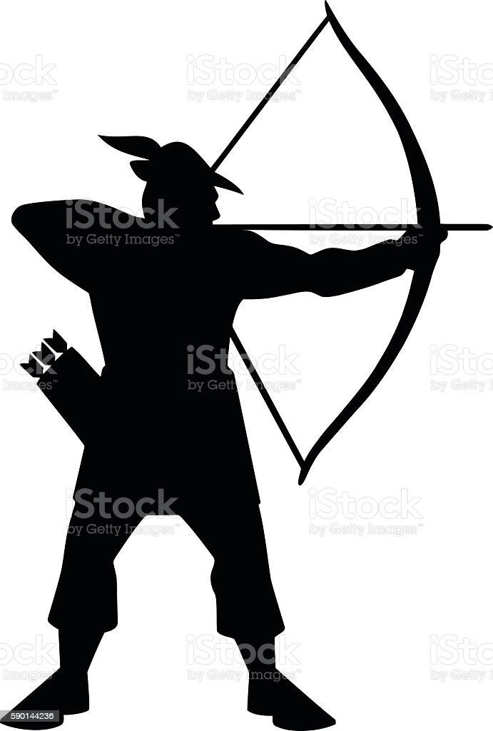 Archer Icon vector art illustration