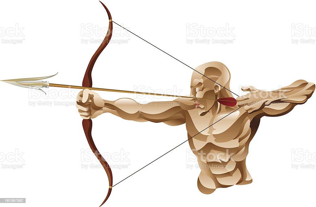 Archer illustration royalty-free stock vector art
