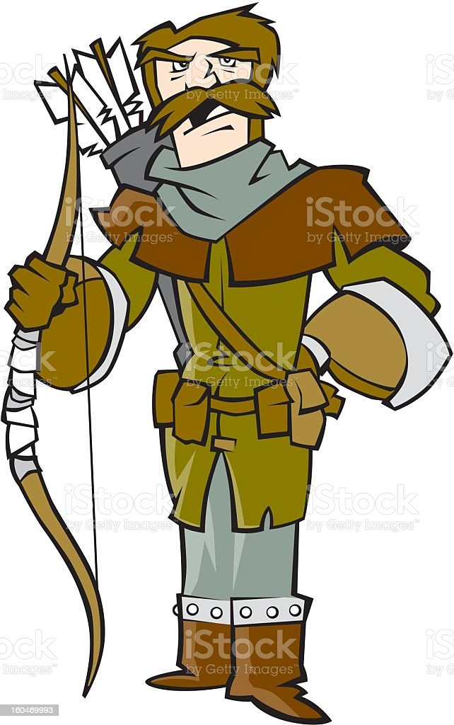Archer royalty-free stock vector art