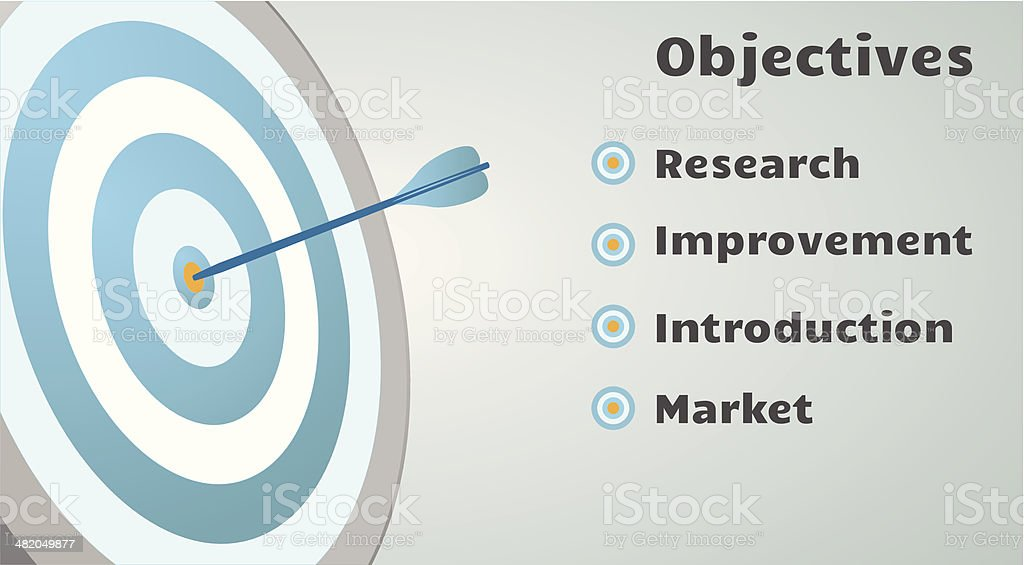 Archery Target WIth Arrow vector art illustration