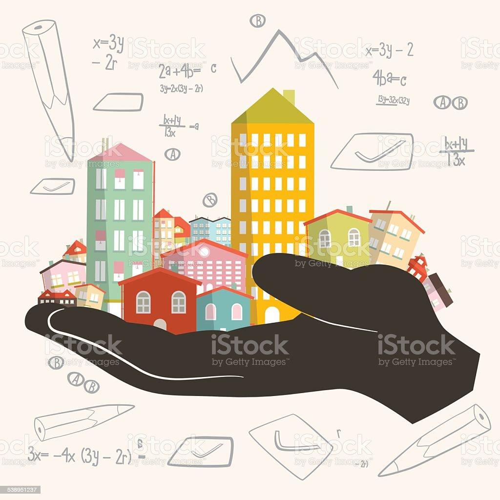 Architect Building Project - Development Vector Illustration vector art illustration
