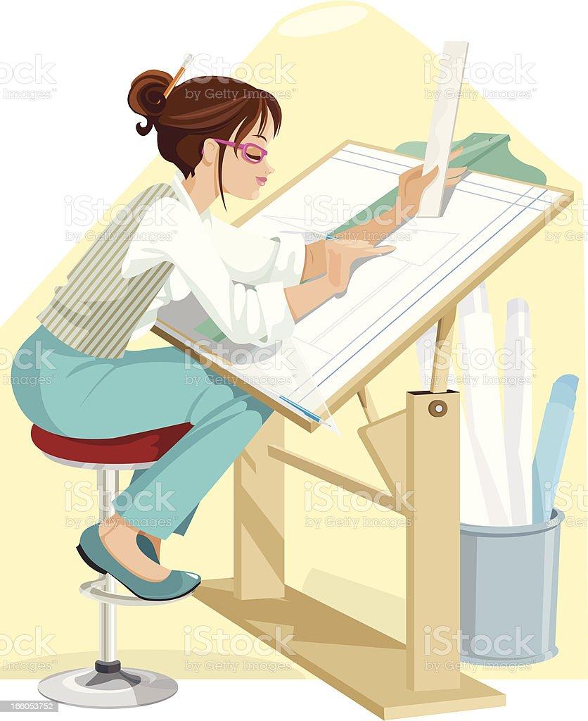 Architect vector art illustration