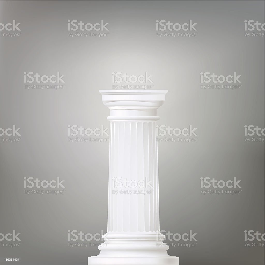 architectural background , doric column vector art illustration