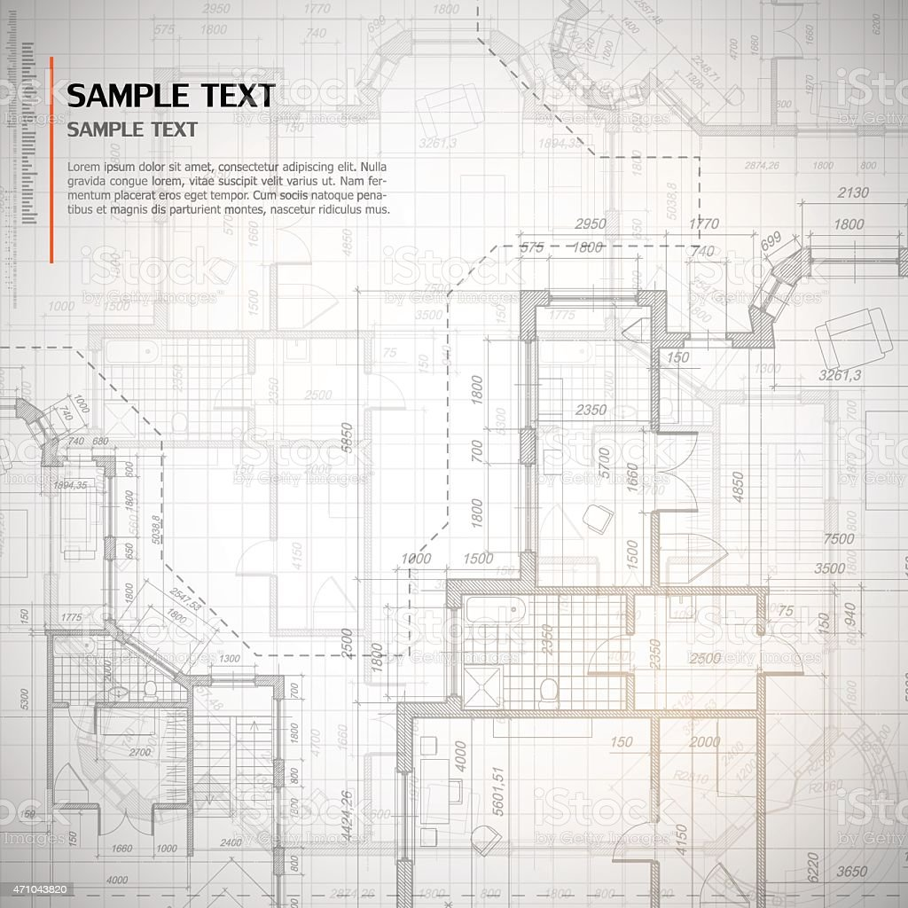 Architectural background vector art illustration