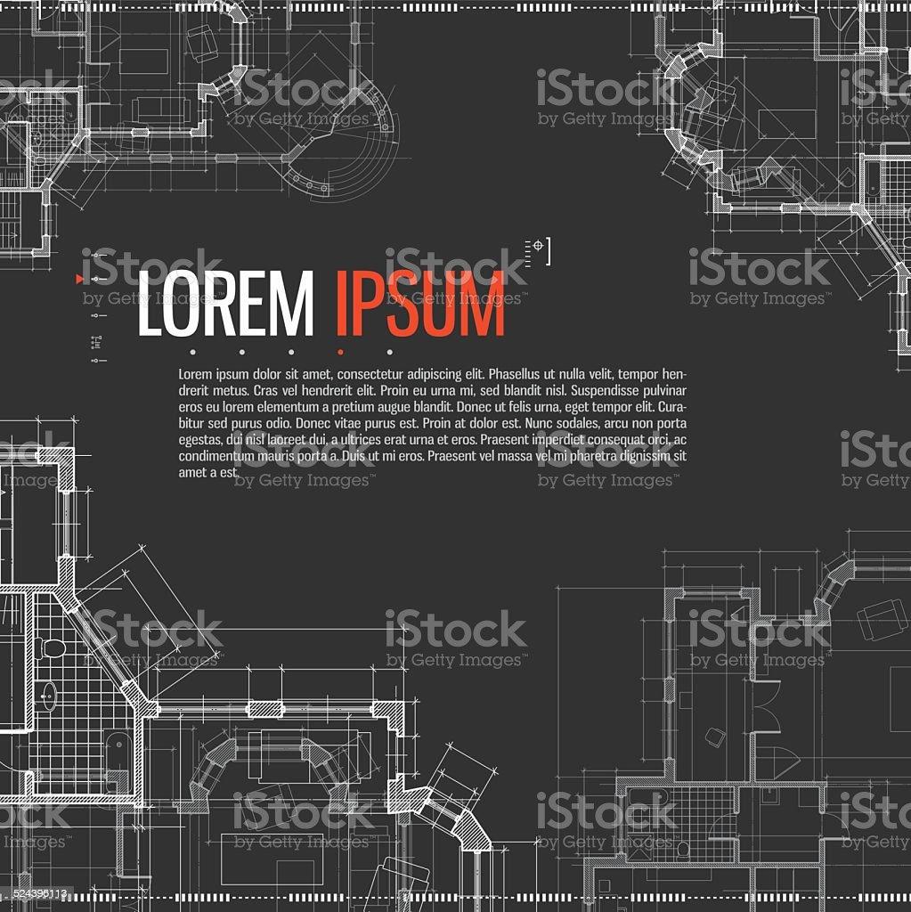 Architectural background. vector art illustration
