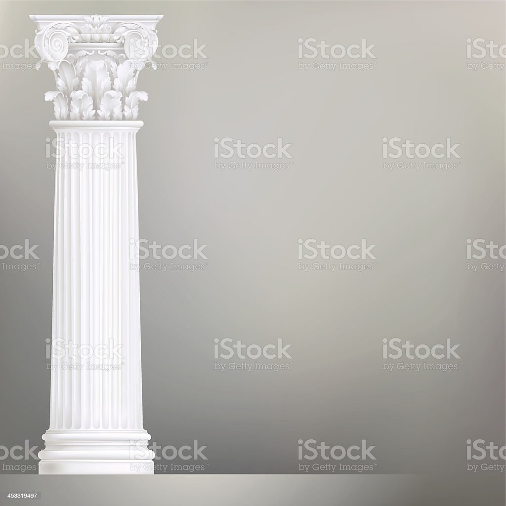 architectural background with coriphian column vector art illustration