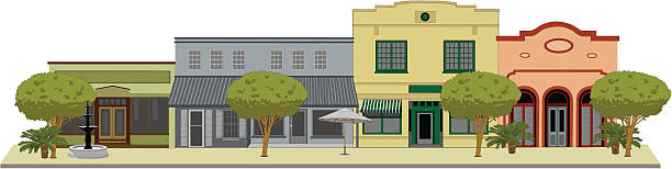 Small Town Main Street Clip Art, Vector Images & Illustrations ...