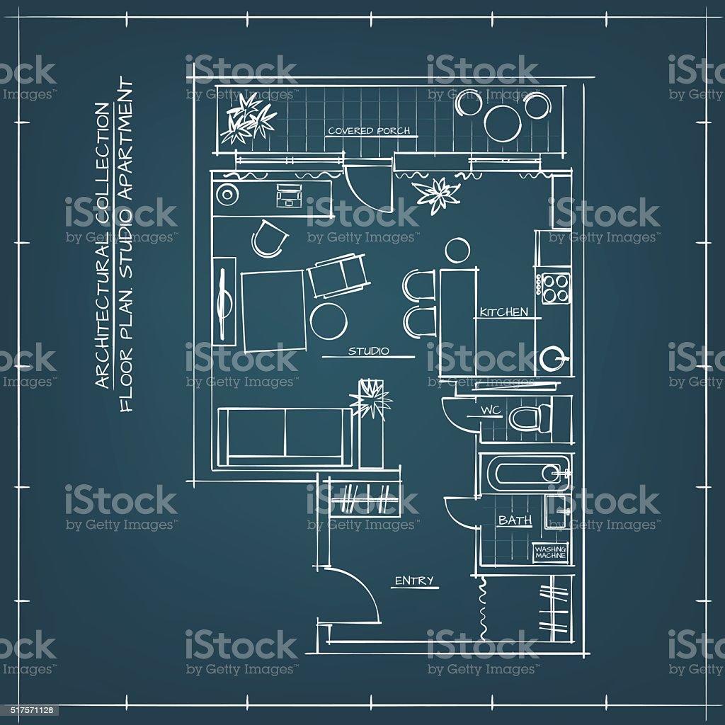 architectural floor plan stock vector art 517571128 istock