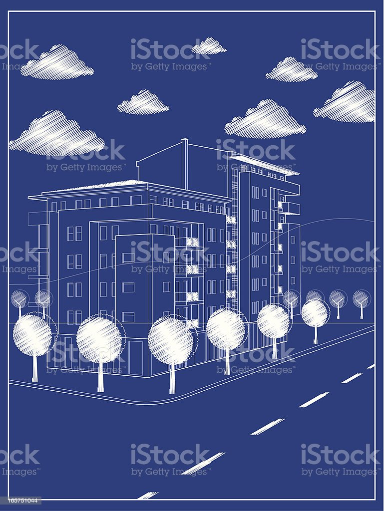 Architectural plan royalty-free stock vector art