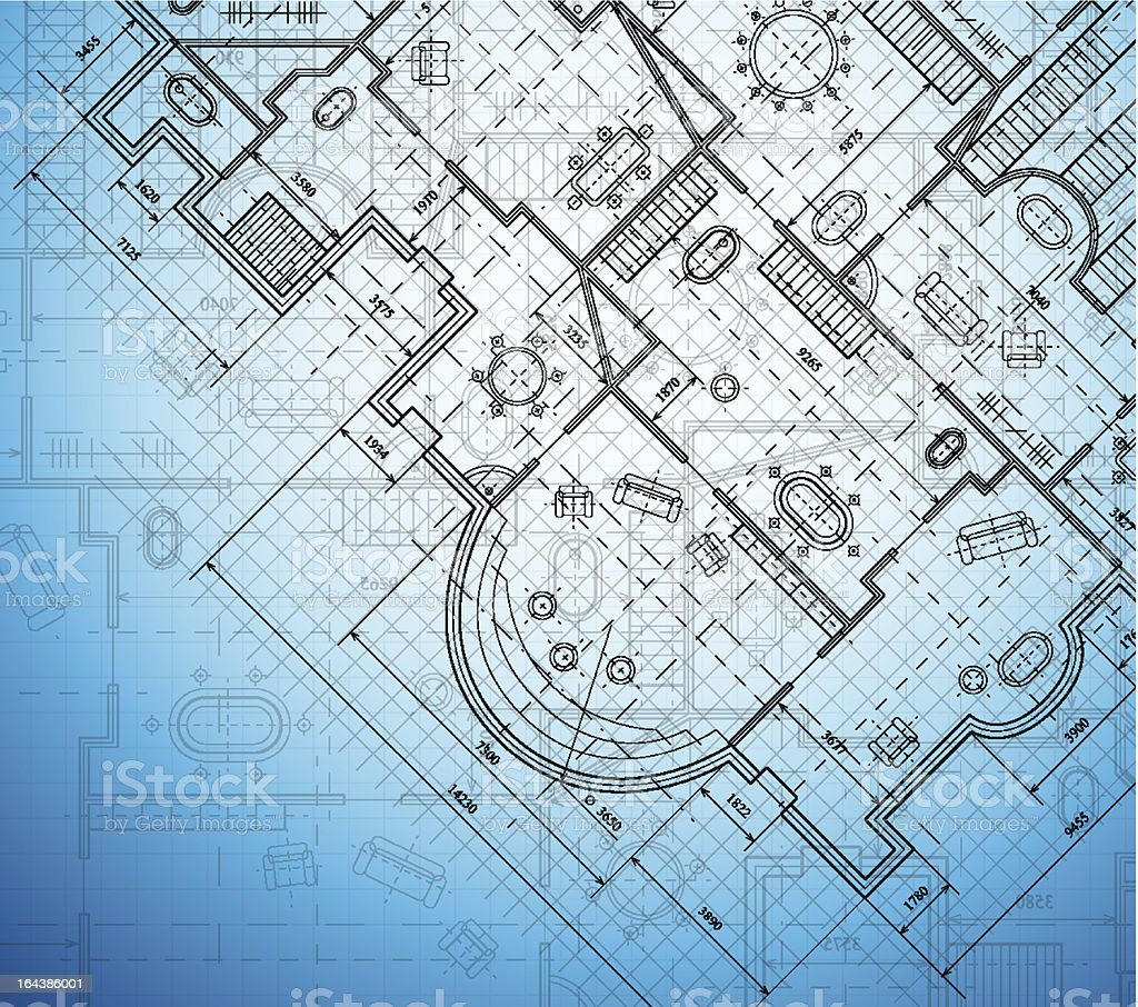 Architectural project royalty-free stock vector art