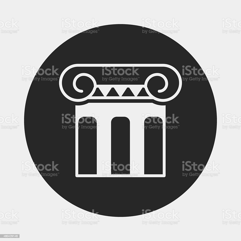 Architectural sculpture icon vector art illustration
