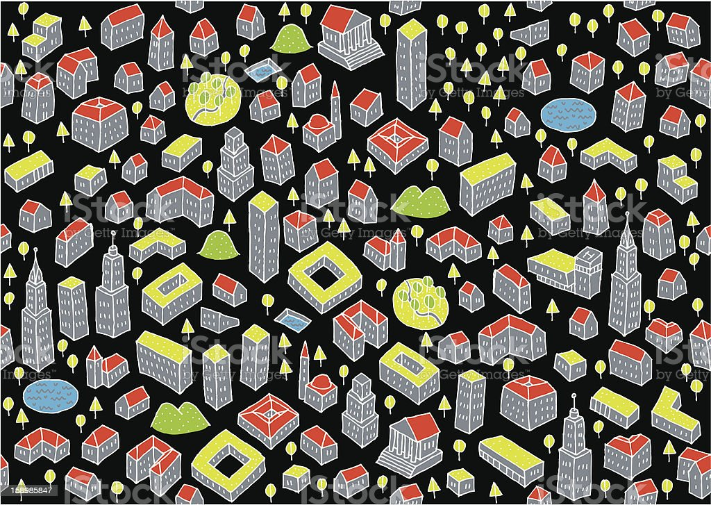 Architectural Seamless Pattern royalty-free stock vector art