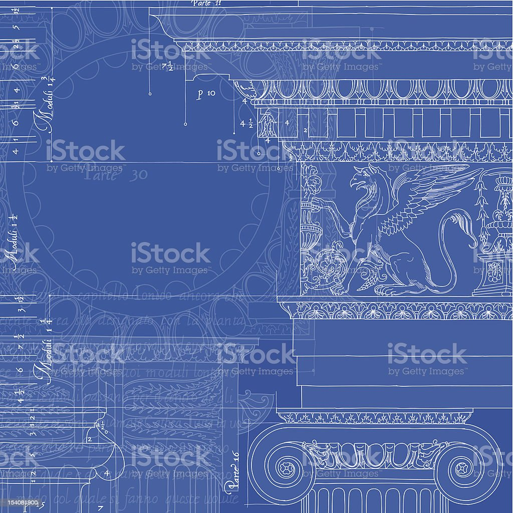 architecture blueprint royalty-free stock vector art