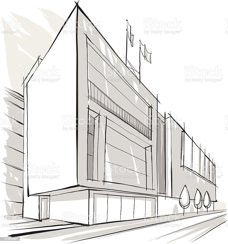 Architecture Building Sketch Stock Vector Art 157833881 | IStock