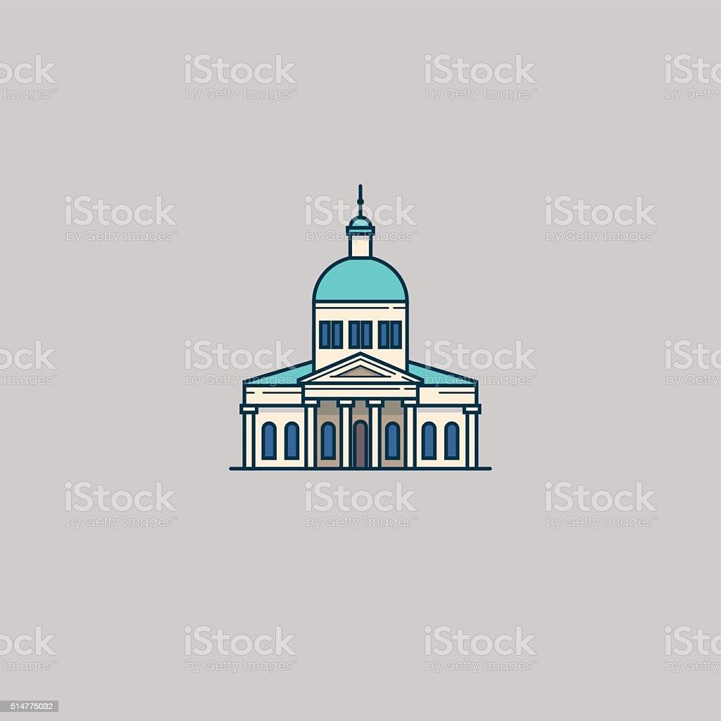 Architecture church vector art illustration