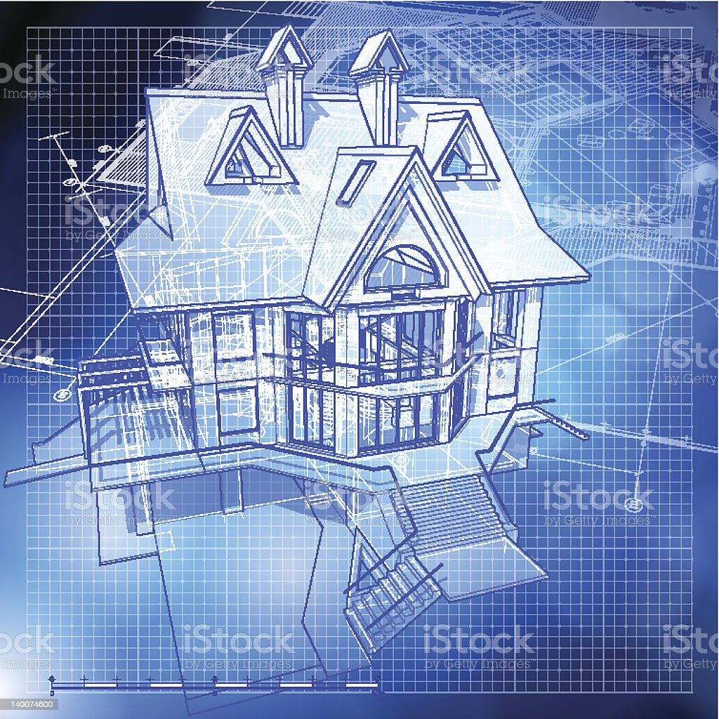 architecture design - house royalty-free stock vector art