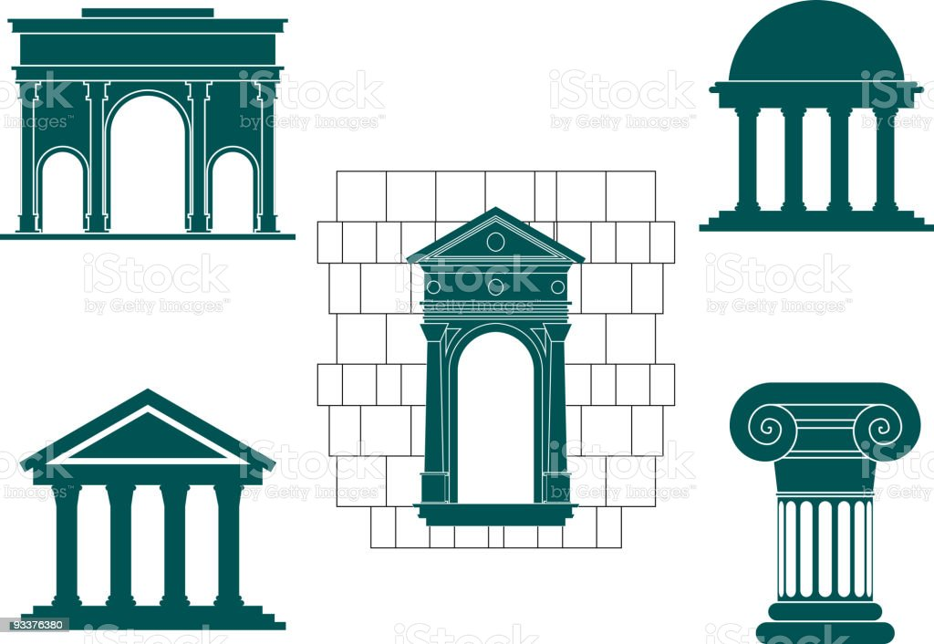 Architecture elements royalty-free stock vector art