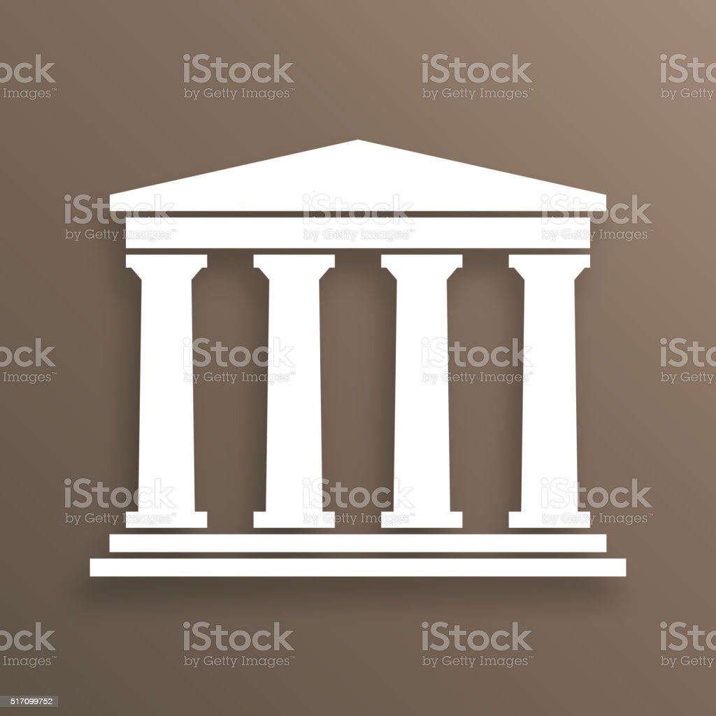 Architecture greek symbol vector art illustration