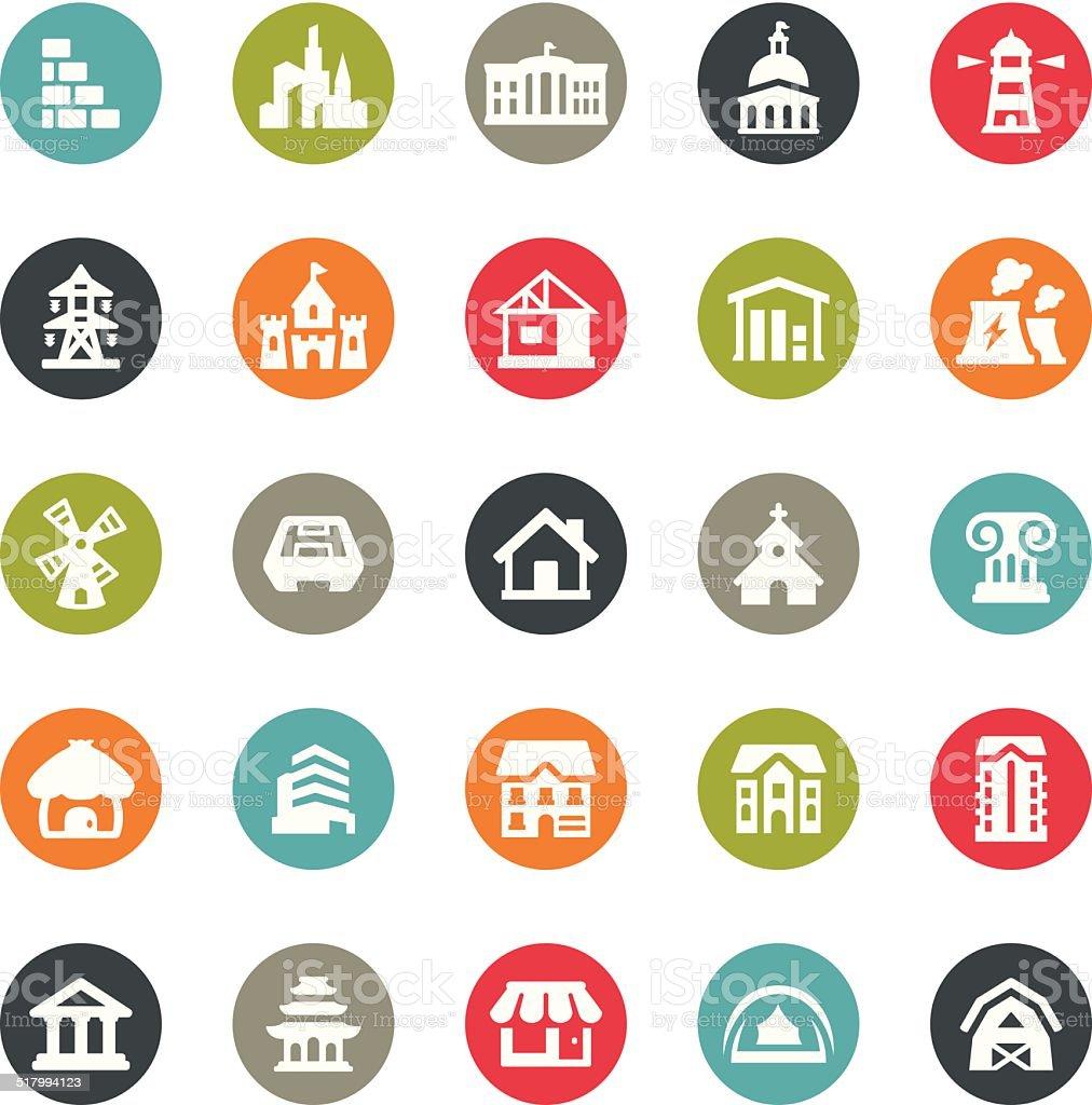 Architecture icons / Ringico series vector art illustration
