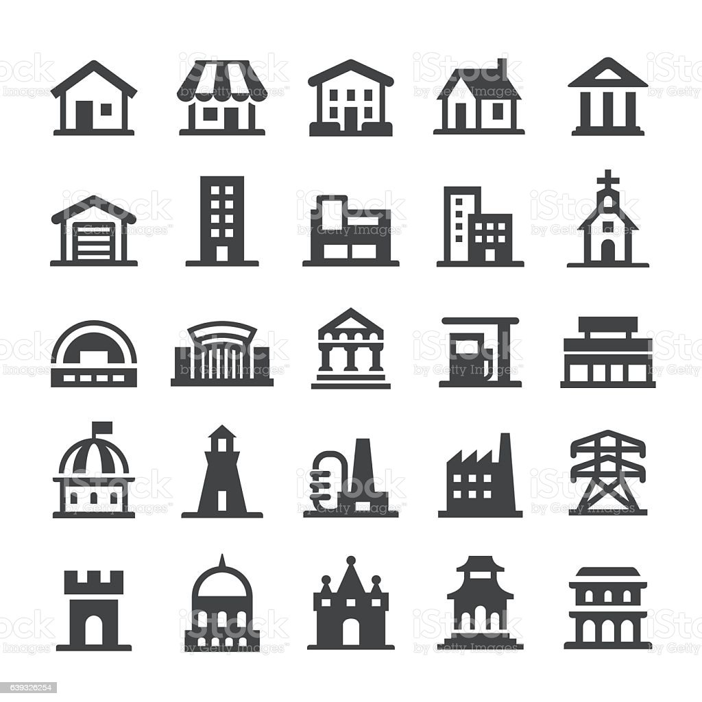 Architecture Icons - Smart Series vector art illustration