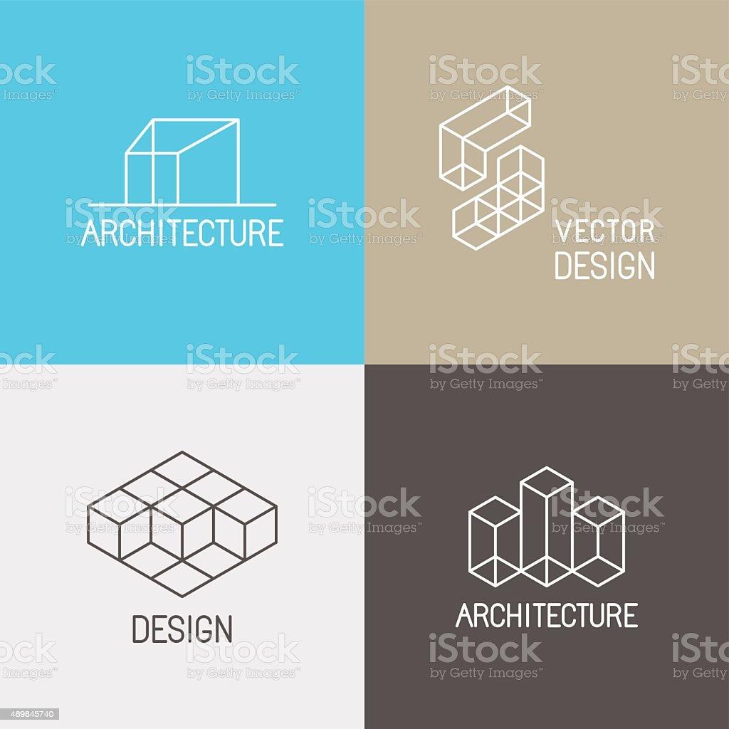 Architecture logos vector art illustration