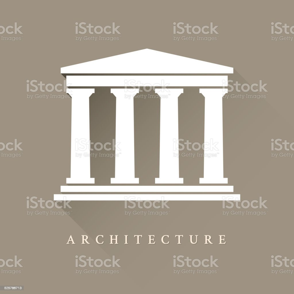 Architecture symbol vector art illustration