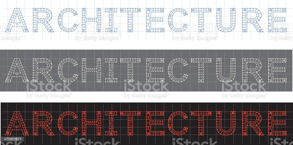 architecture text royalty-free stock vector art