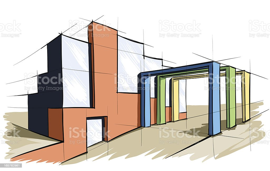architecture royalty-free stock vector art