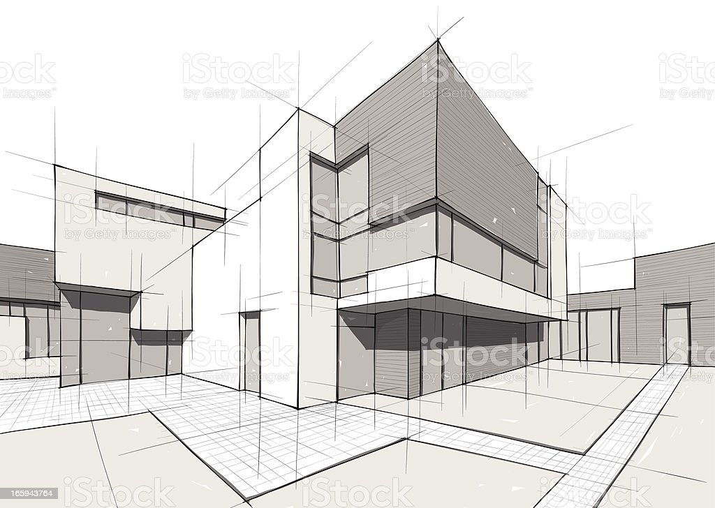 architecture vector art illustration
