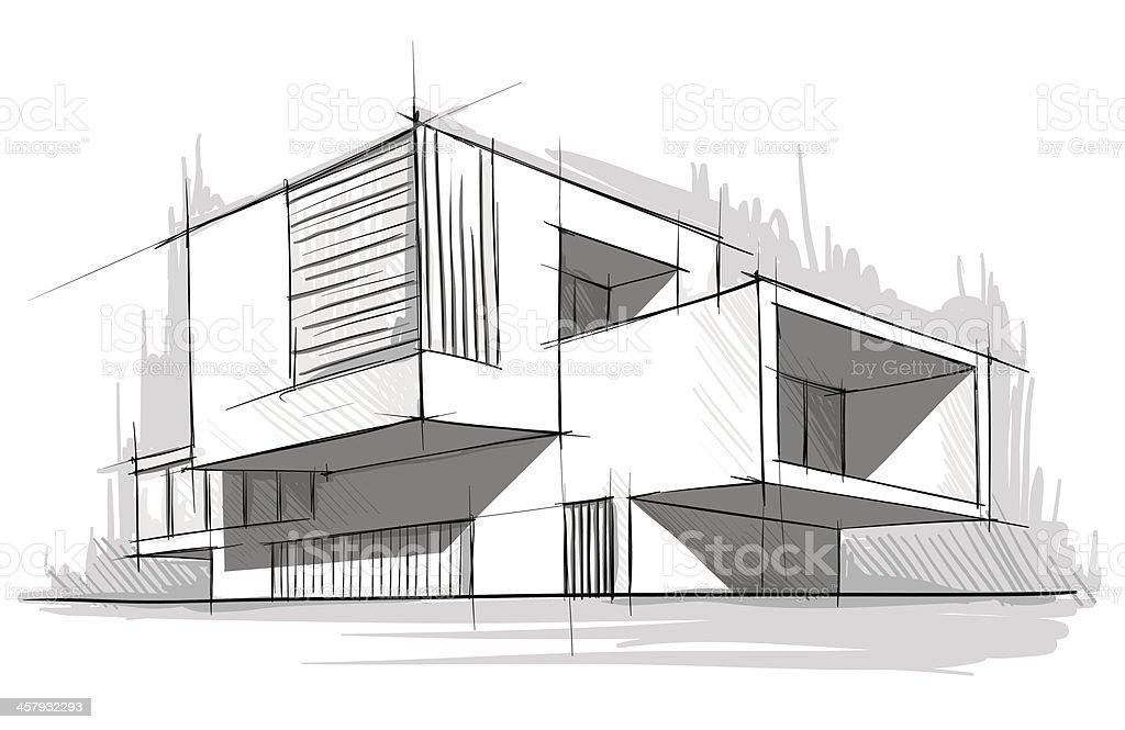 architecture vector art illustration