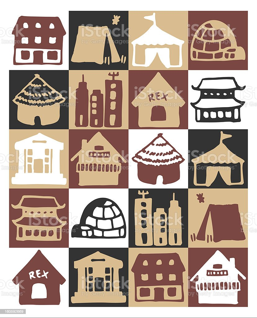 architectures icons royalty-free stock vector art