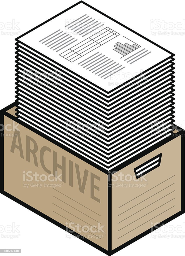Archive Box royalty-free stock vector art